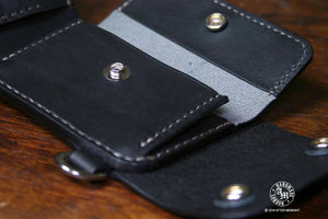 Trifold Wallet with Coin Department in Black