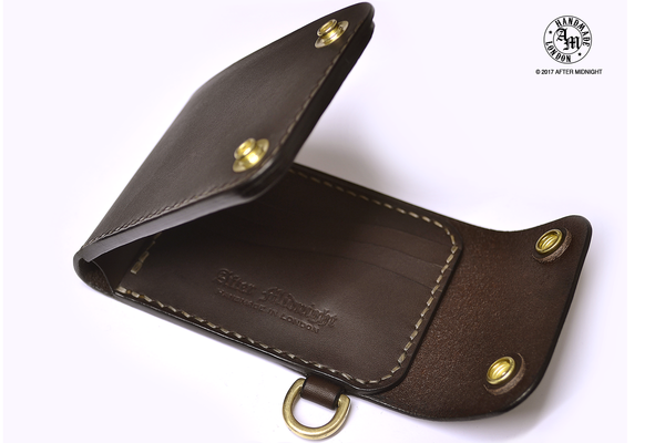 Trifold Wallet with Card Pockets in Dark Brown