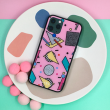 Load image into Gallery viewer, 80s Chic - Glass Phone Case