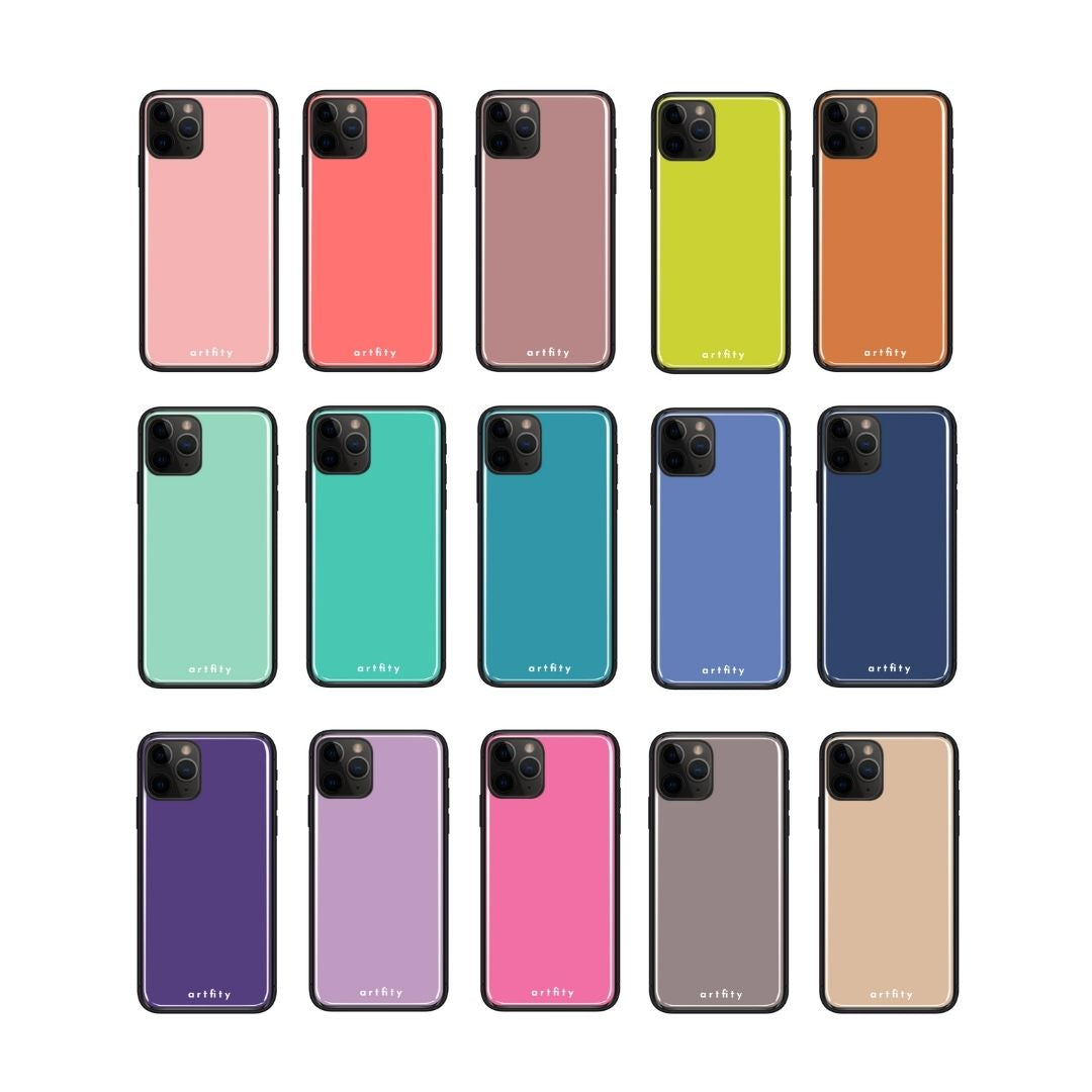 Single Color Palette - Glass Phone Case