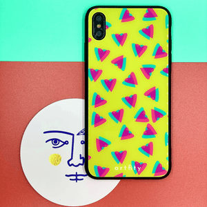 80s Chic - Glass Phone Case