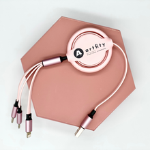 Load image into Gallery viewer, Macaron 3-in-1 Mobile Charging Cable (Type-C / lightning / micro USB)