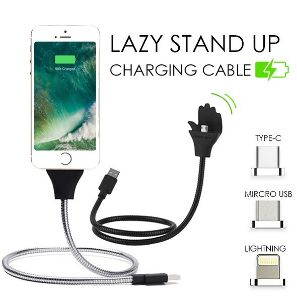 [BUY TWO FREE SHIPPING TODAY]LAZY STAND UP CHARGING CABLE