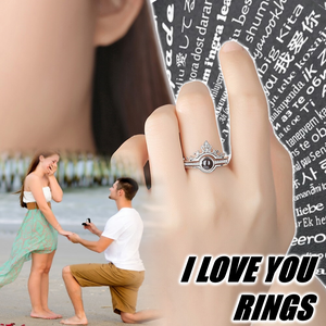 Buy 1 Get 1 Free Today-I Love You Rings