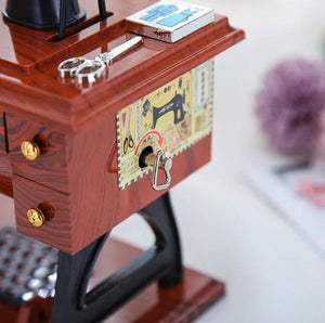 😍Cute MINI Sewing Machine Music Box--🔥buy 2 free shipping