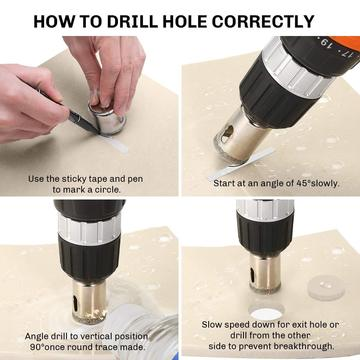 Diamond Hole Drill Bit Set (16 Pieces).Excellent for making a clean and accurate hole on glass and tile.