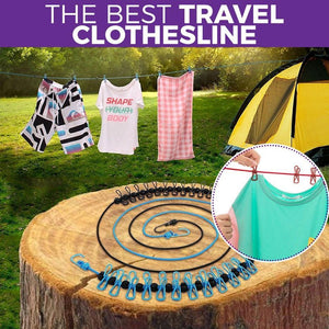 🔥LAST DAY PROMOTION - 65%OFF🔥-Travel Clothesline With Clothespins