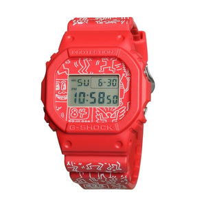 "Casio G SHOCK x ""KEITH HARING"" 2019 Collaboration (RED) DW-5600KEITH"