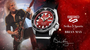 "Seiko 2020 x ""QUEEN's"" Guitarist ""BRIAN MAY"" Seiko 5 Sport Limited Edition SRPE83K1"