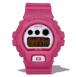 "Casio G SHOCK x ""A BATHING APE"" BAPE DW-6900NFS ""NIGO'S FAVORITE SHOP"" 2007 Limited Edition (Pink)"