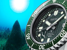 "Load image into Gallery viewer, Seiko PROSPEX LX LINE Limited Edition 2020 ""ANTARTIC"" Spring Drive Titanium Divers Watch With textured Green Dial SNR045J1"