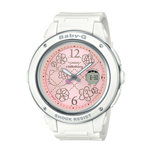 "Load image into Gallery viewer, Casio BABY-G 25th Anniversary x ""HELLO KITTY"" (Pink Quilt) BGA-150KT (White)"