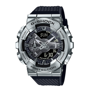 Casio G Shock 2020 GM 110 ANALOG-DIGITAL with Metal Case Series GM-110-1A (Sliver)