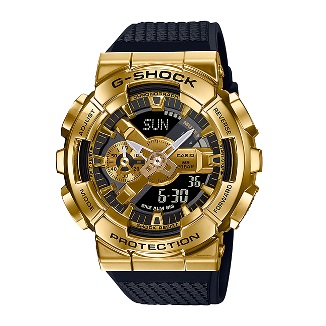 Casio G Shock 2020 GM 110 ANALOG-DIGITAL with Metal Case Series GM-110G-1A9 (Gold)