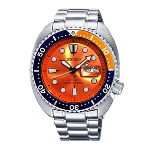 "Seiko PROSPEX Asia Exclusive ""ORANGE TURTLE"" Clownfish Automatic Watch SRPC95K1"