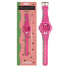 "Load image into Gallery viewer, Casio G Shock x ""PEGLEG"" NYC Watermelon DW-6900FS"