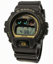 "Load image into Gallery viewer, Casio G SHOCK x ""A BATHING APE"" BAPE DW-6900FS ""Black"" 2008 Limited Edition"