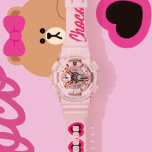 "Load image into Gallery viewer, Casio G SHOCK S-Series x ""LINE FRIENDS"" Choco GMA-S110MP-4A1PRL"