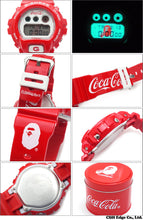 "Load image into Gallery viewer, Casio G SHOCK x ""A Bathing Ape"" BAPE x ""COCA COLA""DW-6900"