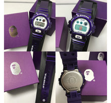 "Load image into Gallery viewer, Casio G SHOCK x ""A BATHING APE"" BAPE DW-6900 NIGO® (PURPLE)"
