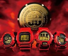 "Load image into Gallery viewer, Casio G SHOCK 30th Anniversary ""Rising Red"" Frogman GF-8230A"
