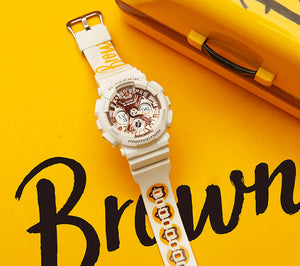 "Casio G SHOCK S-Series x ""LINE FRIENDS"" Brown GMA-S120MF-7A2PRL"