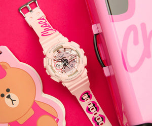 "Casio G SHOCK S-Series x ""LINE FRIENDS"" Choco GMA-S110MP-4A1PRL"