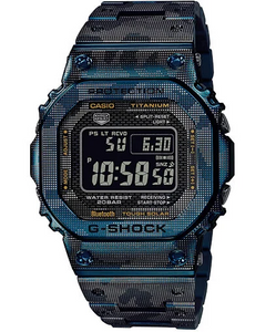 Casio G SHOCK 2020 GMW Titanium Series with Blue IP Camouflage GMW-B5000TCF-2