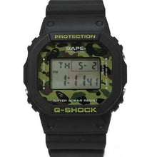 "Load image into Gallery viewer, Casio G SHOCK x ""A BATHING APE"" BAPE DW-5600 NIGO® (Green Camo)"