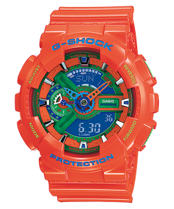 "Casio G SHOCK ""HYPER COLOR"" Series GA-110A (Orange)"