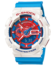 "Load image into Gallery viewer, Casio G SHOCK ""HYPER COLOR"" Series GA-110AC (White/Blue)"