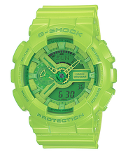 "Load image into Gallery viewer, Casio G SHOCK ""HYPER COLOR"" Series GA-110B (Green)"