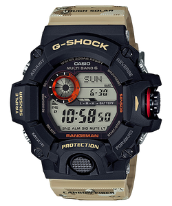 "Casio G Shock Master of G ""RANGEMAN"" Men in Desert Camouflage GW-9400DCJ"