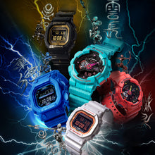 "Load image into Gallery viewer, Casio G Shock 2020 CN Exclusive x ""FIVE TIGER GENERALS"" Water Series ""ZHANG FEI"" GX-56SGZ (Special Helmet Box)"