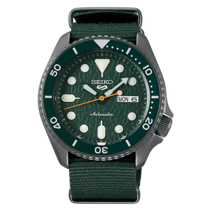 "Seiko 2019 Automatic 5 Series ""ARMY GREEN"" Model SRPD77K1"