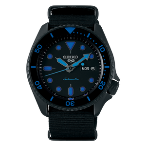 "Seiko 2019 Automatic 5 Series ""BLACK BLUE"" Model SRPD81K1"
