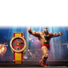 "Load image into Gallery viewer, COMING SOON Seiko 2020 x ""STREET FIGHTER"" ""ZANGIEF' Seiko 5 Sport Limited Edition SRPF24K1"