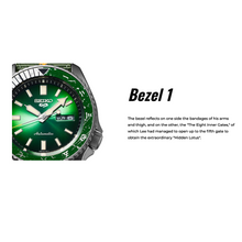 "Load image into Gallery viewer, Seiko 2020 x ""NARUTO & BORUTO"" ROCK LEE Seiko 5 Sport Limited Edition SRPF73K1"