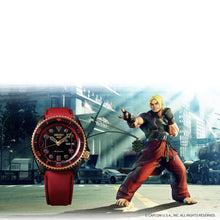 "Load image into Gallery viewer, Seiko 2020 x ""STREET FIGHTER"" ""KEN' Seiko 5 Sport Limited Edition SRPF20K1"