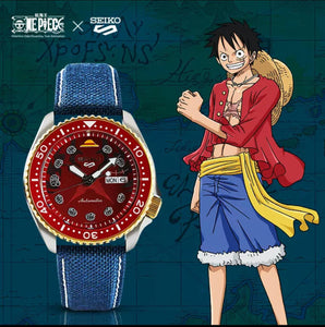 "Seiko 2020 x ""ONE PIECE"" ""Monkey D Luffy"" Seiko 5 Sport Limited Edition SRPF62K1 (Red)"
