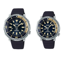 "Load image into Gallery viewer, Seiko Prospex 2021 Lover's Pair Collection Street Series ""Tuna"" Safari Edition (SRPF81K1 Men) (SUT403P1 Ladies)"