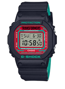 "Casio G SHOCK x ""TRANSFORMERS"" New Master Nemesis Optimus Prime DW-5600TF19-SET"