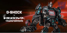 "Load image into Gallery viewer, Casio G SHOCK x ""TRANSFORMERS"" New Master Nemesis Optimus Prime DW-5600TF19-SET"