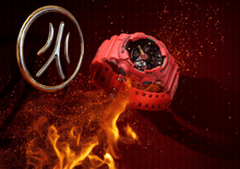 "Load image into Gallery viewer, Casio G Shock 2020 CN Exclusive x ""FIVE TIGER GENERALS"" Fire Series ""HUANG ZHONG"" GA-110SGH (Special Helmet Box)"