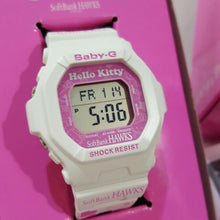 "Load image into Gallery viewer, Casio BABY-G x ""FUKUOKA SOFTBANK HAWKS"" & ""HELLO KITTY"" BG-5600BK"