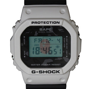 "Casio G SHOCK x ""A BATHING APE"" BAPE DW-5600 NIGO® (White) 2008 Limited Edition"