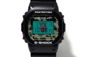"Casio G SHOCK x ""A BATHING APE"" BAPE DW-5600 NIGO® (Green Camo)"