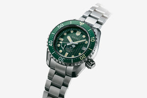 "Seiko PROSPEX LX LINE Limited Edition 2020 ""ANTARTIC"" Spring Drive Titanium Divers Watch With textured Green Dial SNR045J1"
