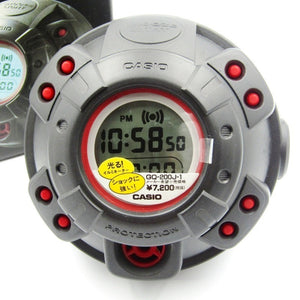 "Casio G SHOCK 90s Muscle Alarm Clock ""Black & Red"" GQ-200J"