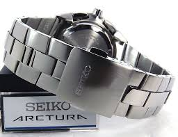 Seiko ARCTURA Kinetic Chronograph Stainless Steel Watch SNL045P1
